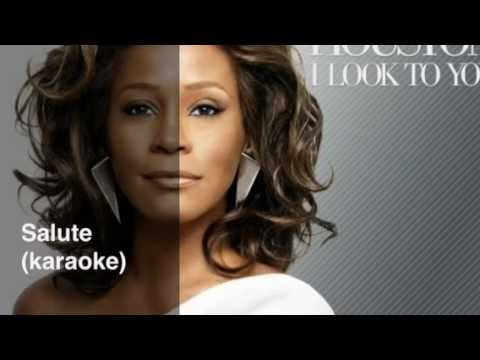 Whitney Houston-Salute karaoke with backing vocal