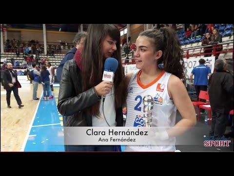 Shay Murphy y Clara Hernández final Copa de la Reina 2015