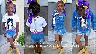 Little Girls/ Toddler Hair Style Piggy Backs/ Braids/ Twists