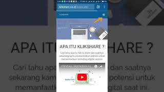 Tutorial Log-in Klikshare dan edit foto profil