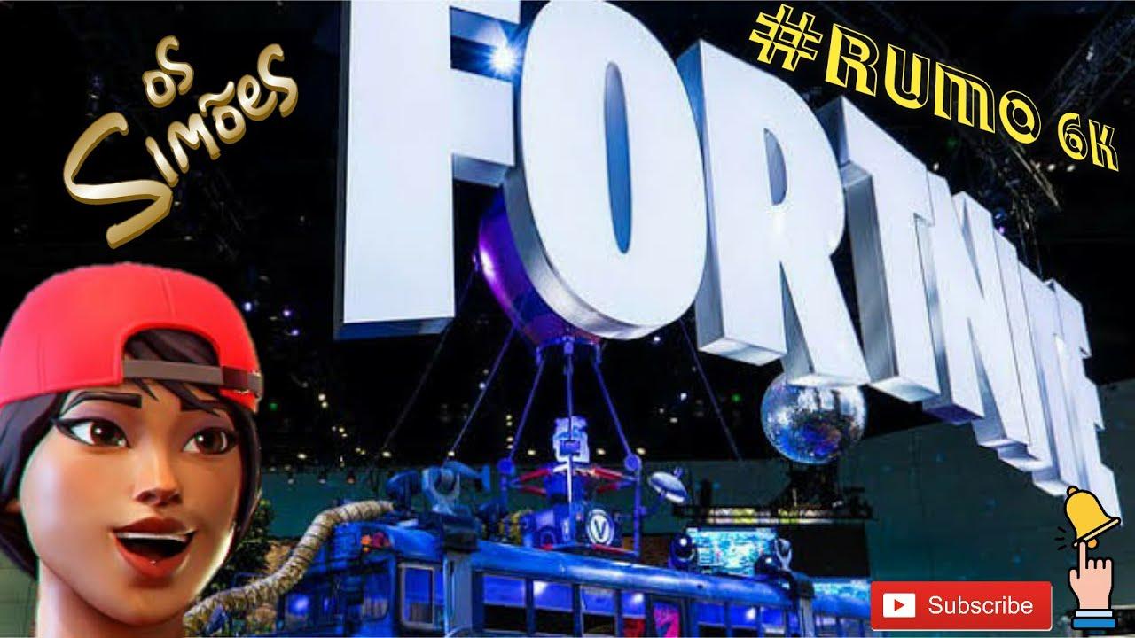 #Fortnite jogando com os inscrito rumo 6k
