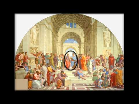 Virtual Art Glasses example using the painting School of Athens