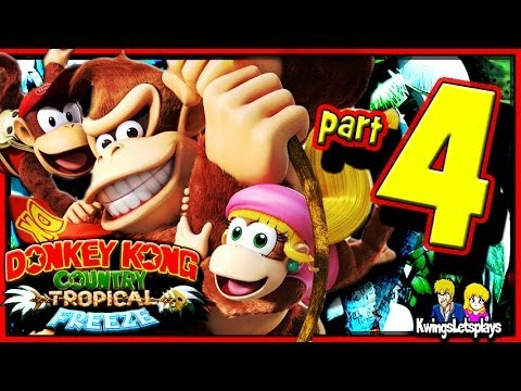 Donkey Kong Country: Tropical Freeze Walkthrough Part 4 Grassland