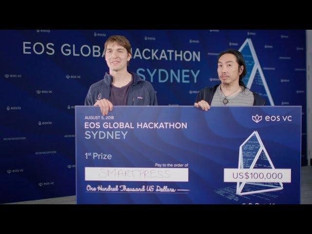 EOS Global Hackathon Sydney 1st Prize Winner SmartPress