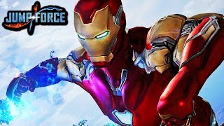 NEW IRON MAN IN JUMP FORCE! Avengers Endgame Iron Man Vs Thanos Gameplay MOD
