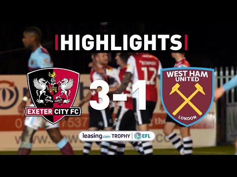 Exeter City v West Ham United U21 highlights