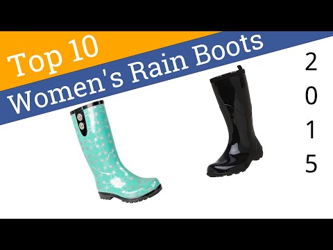 10 Best Women's Rain Boots 2015 - YouTube