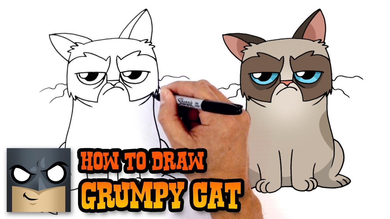 How to Draw Grumpy Cat | Drawing Lesson - YouTube