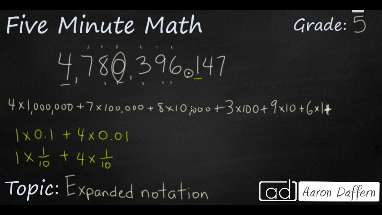 5th Grade Math - Expanded Notation