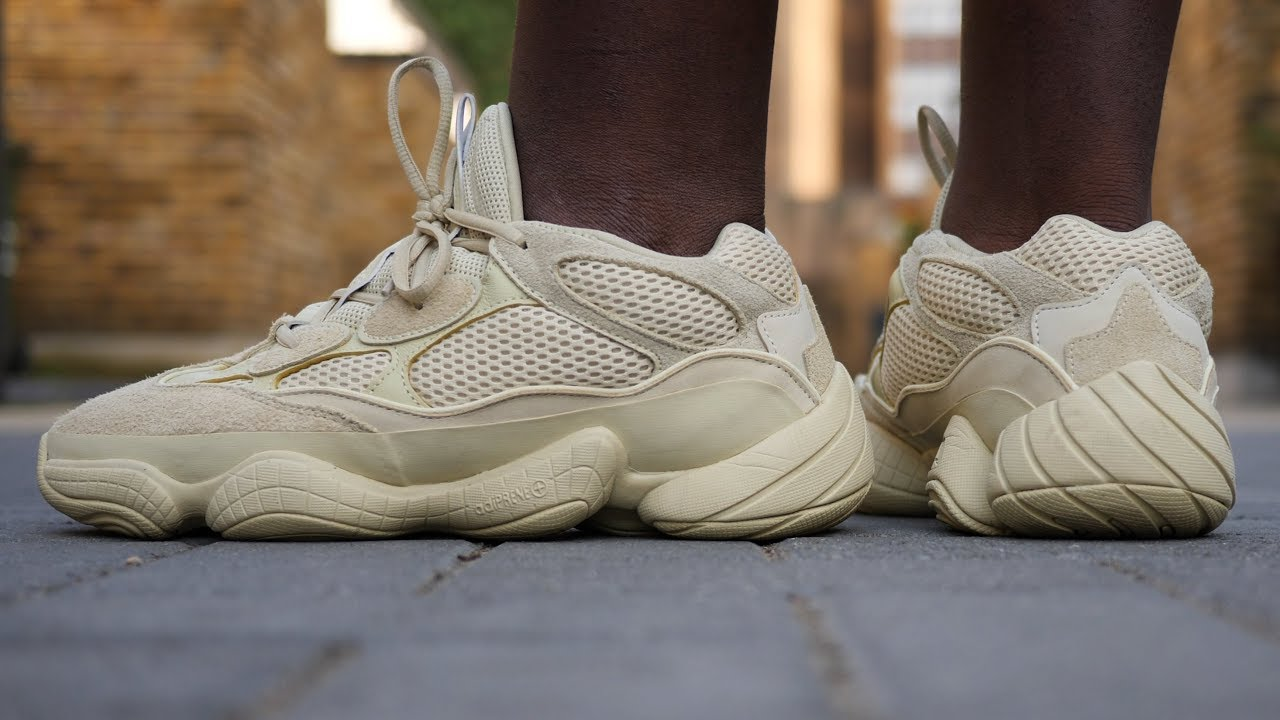 b4bfdf5f36501 Yeezy 500  Super Moon Yellow  Quick Look   On Feet (Compared to the  Blush   500)