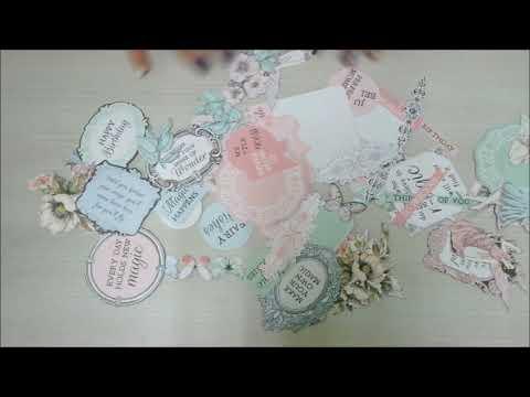牧莎說手藝 - KAISERCRAFT 2018 Fairy Garden ~ Misty Moutains ~ 美編襯紙應用