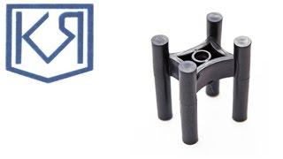 Фиксатор арматуры табуретка 25x50(Пластиковый фиксатор - табуретка 25х50 применяется для создания защитного слоя бетона от 25 мм до 50 мм. Диамет..., 2015-11-10T08:40:47.000Z)