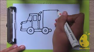 how to make Container truck -make with colgate