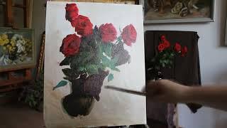 Рисуем розы. Видеоурок.