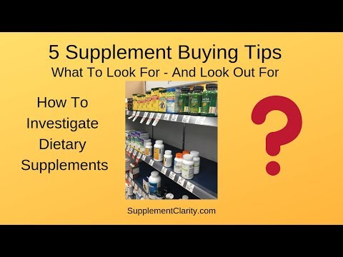 5 Supplement Buying Tips