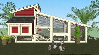 S100 - Chicken Coop Plans Construction - Chicken Coop Design - How To Build A Chicken Coop