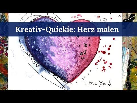 Kreativ-QUICKIE #2: Herz malen mit Clarissa