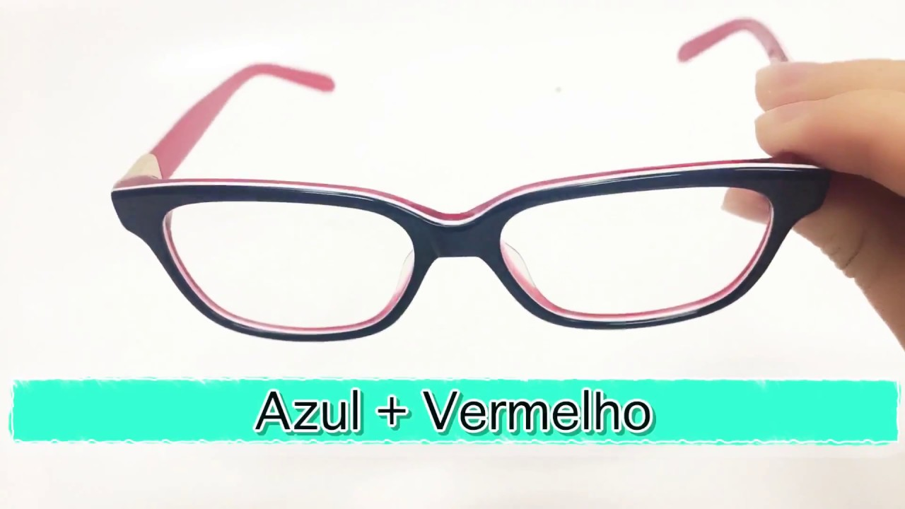 e7c41f742a9c5 Armação de óculos de grau fem Tiffany - YouTube