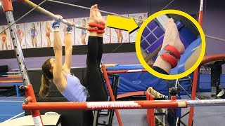 reacting to our gymnastics pictures