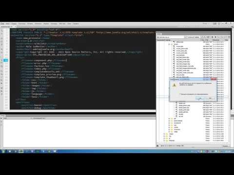Копирование шаблона Joomla Protostar