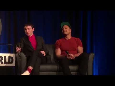 Ezra Miller and Ray Fisher at Wizard World Philadelphia 2018