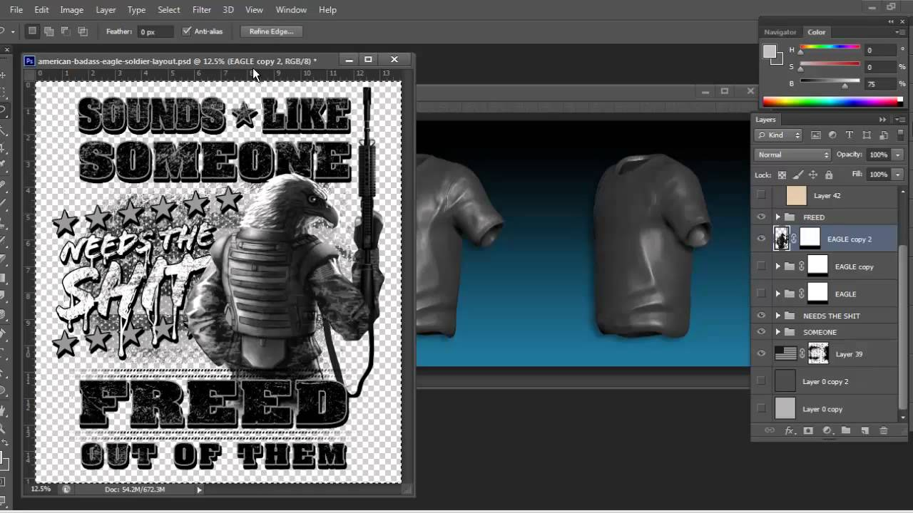 3d Tshirt Mockup Template Guide Youtube
