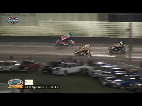Knoxville Raceway 410 Highlights - July 16, 2017