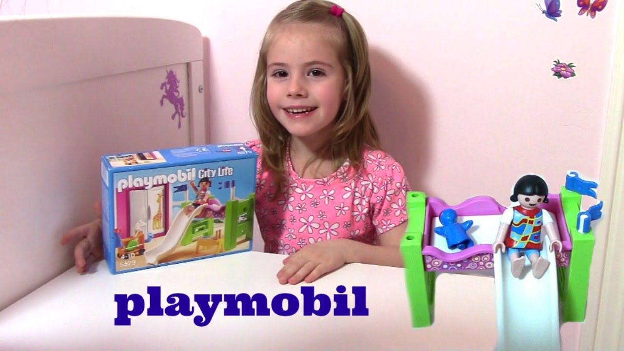 Playmobil kinderzimmer mit hochbett und rutsche for Kinderzimmer playmobil