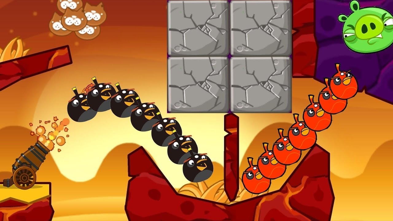 Angry Birds Collection Hacked 3 – BLAST THE PIGGIES BEHIND ALL HUGE STONE!