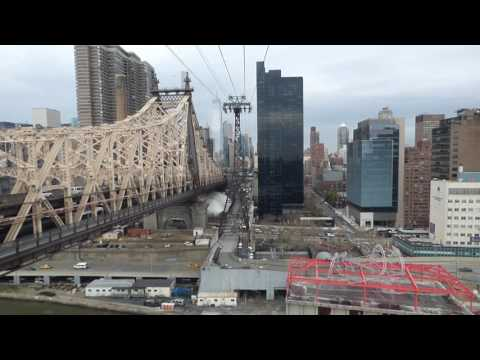 crossing with the roosevelt island tramway