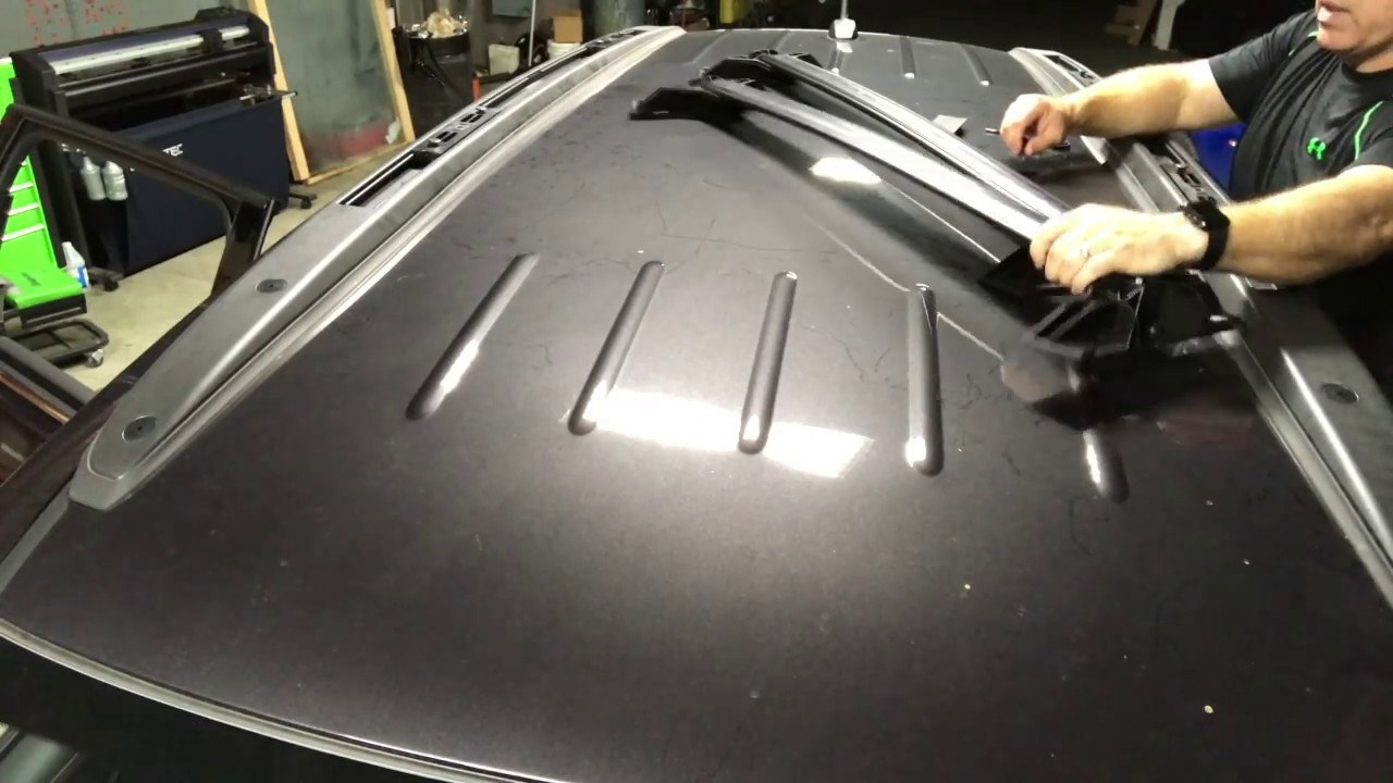 Traverse Roof Rack Cross Rail Installation - YouTube