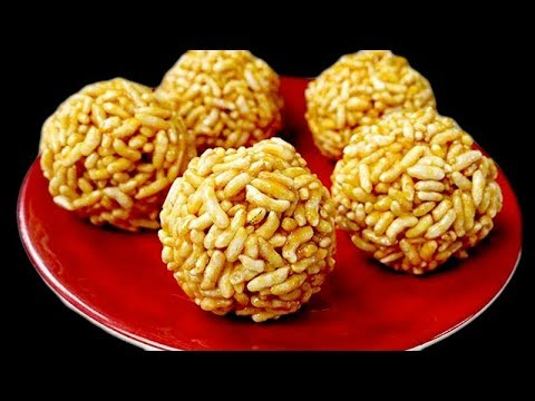 Crunchy Murmura With Jaggery Recipe - Sweets With Murmura Recipes - Popular South Indian Sweets