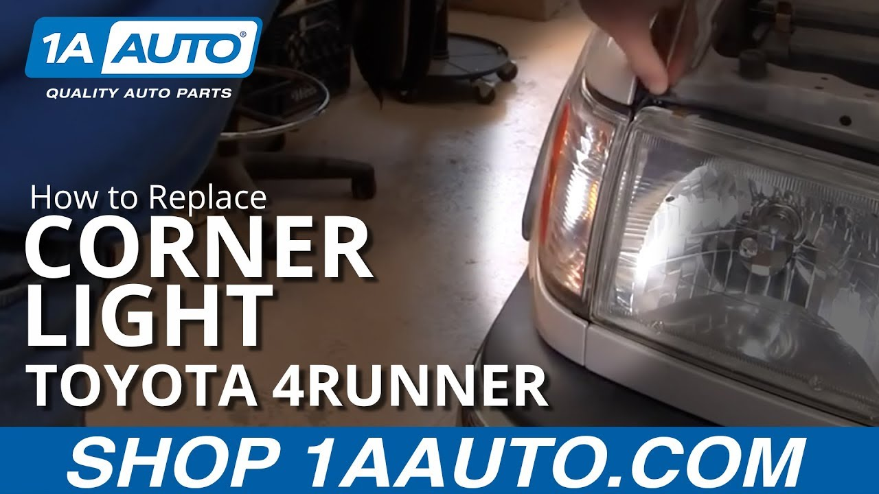 How To Install Replace Front Side Marker Light Toyota