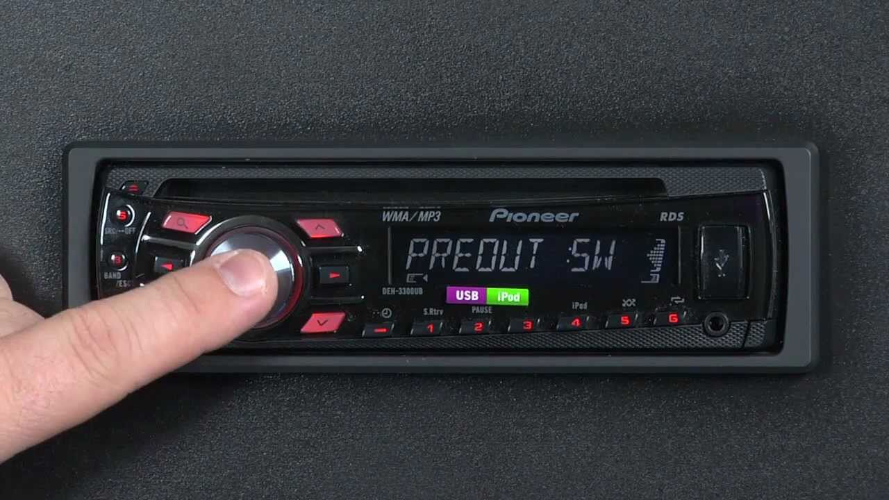 hight resolution of pioneer deh x2750ui wiring diagram 41 faq deh 3300ub initial setup menu youtube