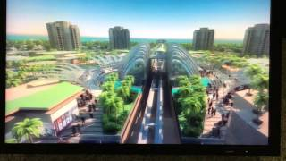 Palm Jumeirah Monorail animation