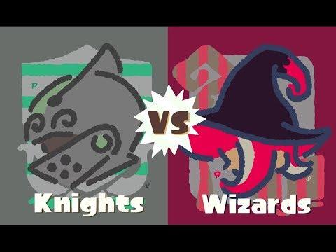 Splatoon 2 Splatfest Knights vs Wizards