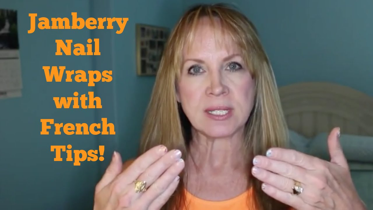 Jamberry Nail Wraps with French Tips - YouTube