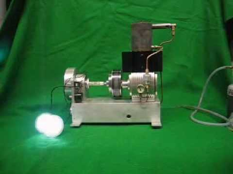 Rhombic Drive Stirling Engine,    10cc Pressurized,  Part 2