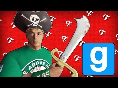 Gmod: Capturing Cap'n John Cena's Booty! (Garry's Mod Deathrun - Comedy Gaming)