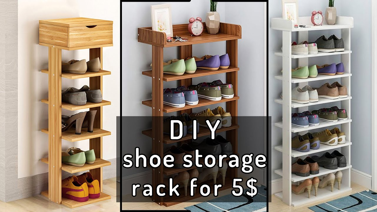 diy shoe storage rack how to build a shoe cabinet for 5