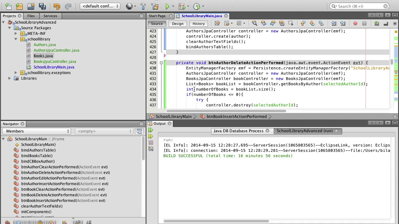 Advanced Database SWING application with Netbeans 12 of 17