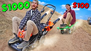 *BEST DIY CAR WINS* $100 vs $1000 Homemade Car Budget Challenge!