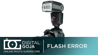 Flash Not Working: Incompatible Flash or Flash Power is Turned Off Message