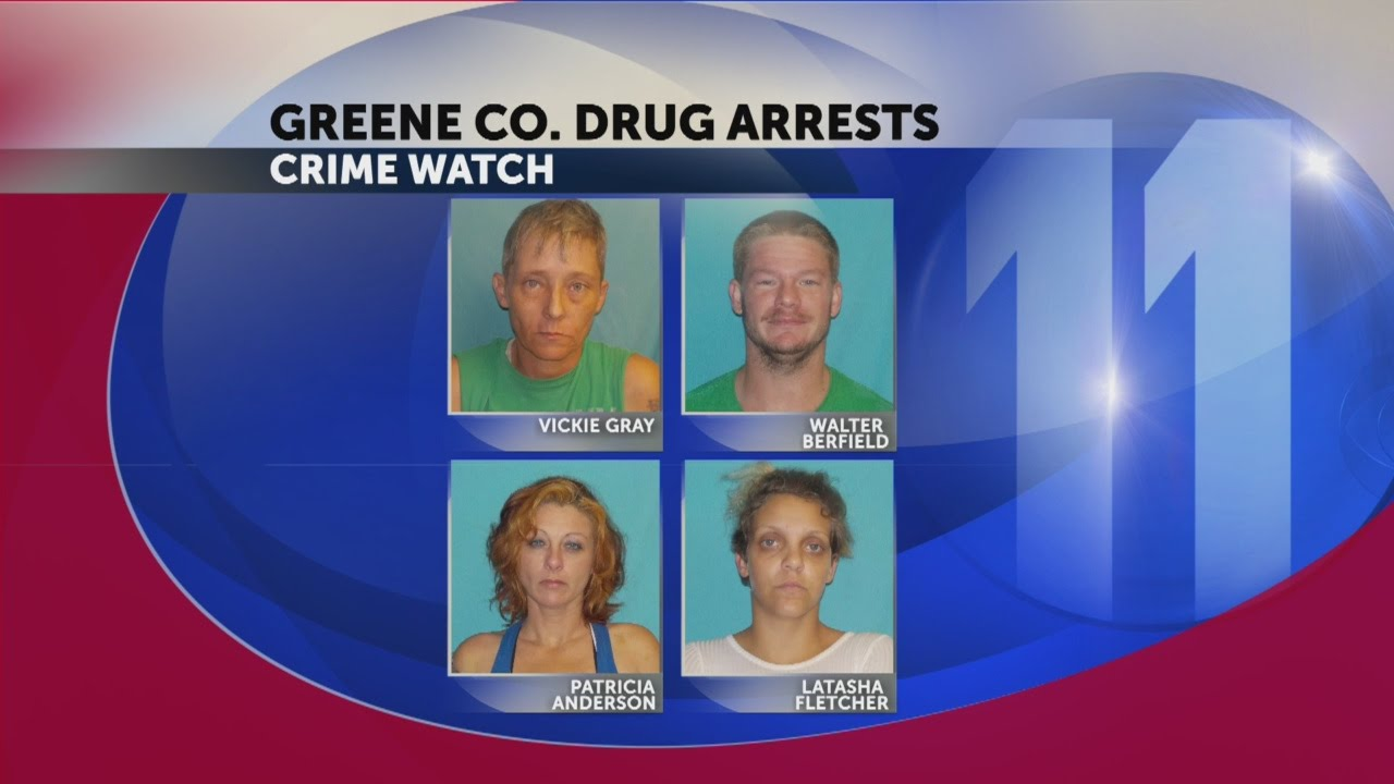 Four people facing charges after Greene County drug bust