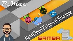 DietPi Docker NextCloud External Storage Setup with SAMBA SERVER on RPI3B