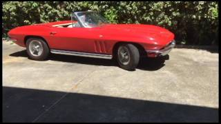 1965 Red Corvette Convertible, garage find in Alabama (THEVETTENET)