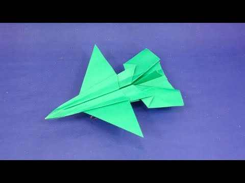 Best Paper Airplane that FLY FAR - How to make a paper airplane - DIY Paper Jet Plane / Sky King