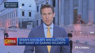 Spain's Pedro Sanchez likely to form coalition government after snap election   Squawk Box Europe