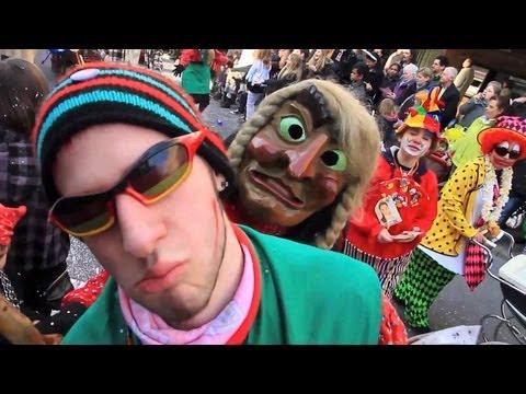 Fasching, Fasnetumzug Stuttgart: Hexen, Narren, Funkenmariechen ... beim Karnevalsumzug