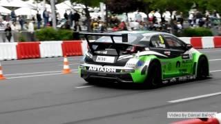 WTCC Honda Michelisz Norbert, WTCC Zengő motorsport cars Brtutal sound and acceleration in the city